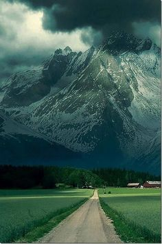 Road to French alps