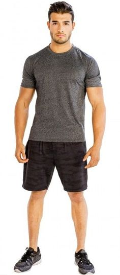 Add #Pizzazz to #Workouts with #Dark #Grey #Half #Sleeve ##Tees from @alanic.com