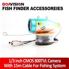"74.98$  Buy now - http://ali875.worldwells.pw/go.php?t=32366344743 - ""2015 New Arrival Only 800TVL 12 White Underwater Video Camera With 15 Meters Cable For 7"""" TFT LCD Fishing Camera"""