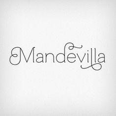 Mandevilla typeface, designed by Laura Worthington. At Fairgoods.