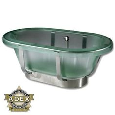 Jason Designer translucent acrylic freestanding bathtub.