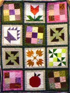 A beautiful sampler.  Love the wonky nine-patches!