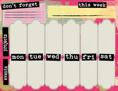 FREE printable weekly planner - getting organized