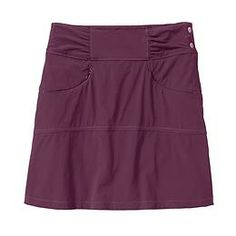 Hit The Trail Skort - The lightweight, abrasion-resistant ripstop skort thats made for the great outdoors and features a rear passport/map pouch that snaps off into a purse.