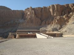 The Mortuary Temple of Queen Hatshepsut is located beneath the cliffs at Deir el Bahari on the west bank of the Nile near the Valley of the Kings in Egypt. The mortuary temple is dedicated to the sun god Amon-Ra and is located next to the mortuary temple of Mentuhotep II, which served both as an inspiration and later a quarry. It is considered one of the incomparable monuments of ancient Egypt.