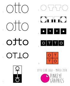 A selection of logos we created for Club Otto. Otto stands for 'Oblivious to the obvious'. Club, Logos, Logo