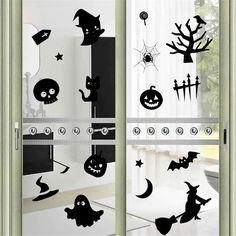 Bestwoohome Wall Sticker Halloween Decorations Decor Window Decal (1-Wild Cats)…