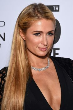 Paris Hilton Half Up Half Down Hairstyle