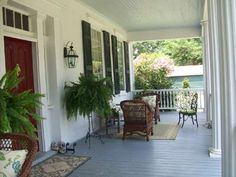 Oakland Plantation in Aiken County, SC....I would love to have a porch like this! Sweet tea, anyone?