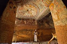The awe-inspiring cave churches of Ethiopia: Carved out of sandstone and reached by rope ladders, fresco-covered rock refuges are 1,600 years old