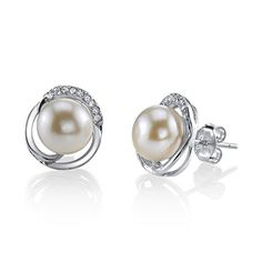 8mm White Freshwater Cultured Pearl  Crystal Johnson Earrings * Visit the image link more details. Note: It's an affiliate link to Amazon http://www.costplusfashion.com/store/2017/01/05/under-armour-mens-tech-short-sleeve-t-shirt-black-009-xxx-large/
