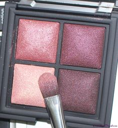 Review and swatches of the Kiko Milano Color Fever Baked Eyeshadow Palette 101 Coral Burgundy and an eye makeup look I did with the shades.