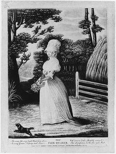 The Fair Quaker Anonymous, British, 18th century Publisher: Robert Sayer (London, 1725–1794) Date: July 11, 1787 Medium: Mezzotint Dimension...