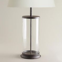 Clear Glass Table Lamp Base | World Market