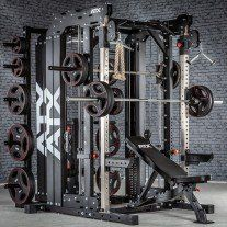 Just when you thought the ATX multigyms could not get more comprehensive, they release this. You'll have to read the description, below, to give you the full-breakdown. Home Gym Garage, Diy Home Gym, Gym Room At Home, Home Gym Decor, Half Rack, Best Home Workout Equipment, Exercise Equipment, Fitness Equipment, Home Gym Machine