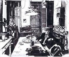 "rocket-prose: "" ""Corto Maltese in Havana""… by John Paul Leon. """
