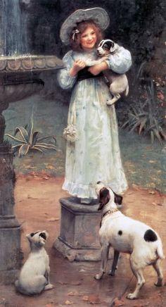 Arthur John Elsley ~ Favourite Of The Litter, 1905