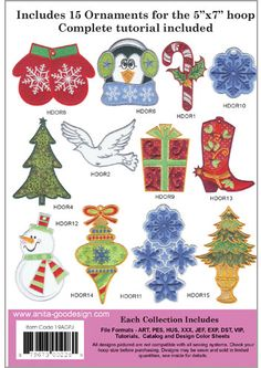 Anita Goodesign | Ornaments - Anita Goodesign