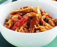 Chicken and Chorizo Risotto - Not sure about only cooking the chicken for 4 mins?  Might put it in with the chorizo, or have it pre-cooked.
