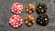 NICE Lot Bead Cluster Style Clip Earring Pairs by ceiltiques