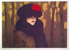 Jean-Pierre Cassigneul | Alnorum Art Le Camelia Rouge Techniek: kleurenlitho  Jaar van uitgifte: 1978 Genummerd en handgesigneerd Afmetingen: 75,5 cm x 54 cm (papier)
