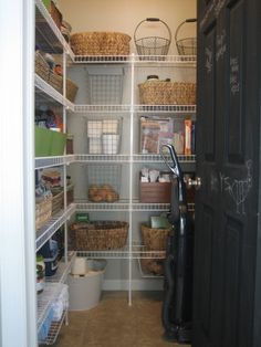 Love the industrial look of this pantry.