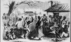 Slaves were allowed to dance, feast and visit family on other plantations. But this revelry preceded 'hiring day', when families could be torn apart, by just a week