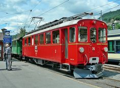 Rhätische Bahn (RhB), ABe 4/4 35, Blonay (VD), [Chemin de fer-Musée Blonay - Chamby]
