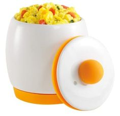 Egg-Tastic Microwave Egg Cooker and Poacher instantly heats and keeps eggs at the perfect cooking temperature Tasty scrambled eggs in as little as one minute. Even makes perfect poached eggs Whisk eggs inside the durable pot - no extra dishes Microwave Egg Poacher, Microwave Eggs, Microwave Recipes, Fluffy Scrambled Eggs, Fluffy Eggs, Chefs, Perfect Poached Eggs, Cooking Temperatures, Micro Onde