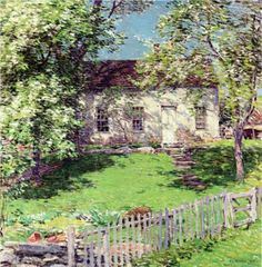 The Little White House - Willard Metcalf
