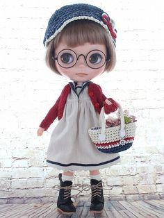 ◆Blythe Outfit◆ブライス♪マリンコーデ8点set NO.48_ブライス本体・眼鏡は付属しません。
