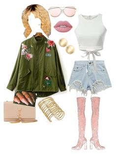 """""""Salute A Baddie"""" by kelleymichelle on Polyvore featuring Chicnova Fashion, WithChic, Yves Saint Laurent and Lime Crime"""