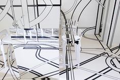'Nothing happens for a reason' at Logomo Café designed by Tobias Rehberger