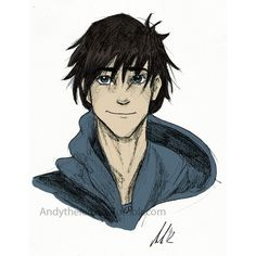 Percy Jackson &TO ❤ liked on Polyvore featuring percy jackson, anime, art, drawings and other