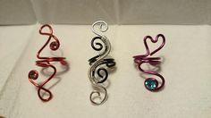 different little designs of ear cuffs