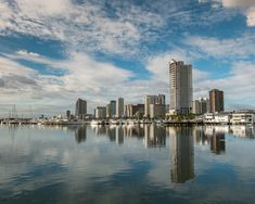 View top-quality stock photos of Manila Bay Skyline. Find premium, high-resolution stock photography at Getty Images. Ancient Architecture, Architecture Art, Manila Philippines, Famous Places, Live In The Now, Outdoor Travel, San Francisco Skyline, New York Skyline, Places To Go