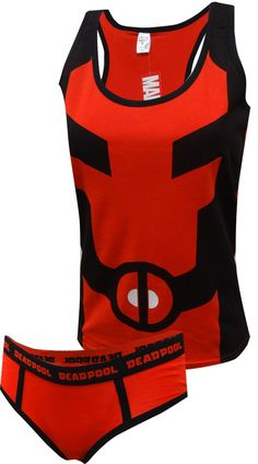 Shop a great selection of MJC Women's Marvel Comics Deadpool Tank & Hipster Panty Set (Large) Red. Find new offer and Similar products for MJC Women's Marvel Comics Deadpool Tank & Hipster Panty Set (Large) Red. Cool Outfits, Fashion Outfits, Red Fashion, Fashion Women, Fashion Trends, Maquillage Halloween, Lounge Wear, Athletic Tank Tops, Marvel Comics