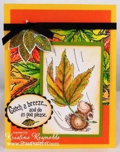 Catch a Breeze by stampwithkristine - Cards and Paper Crafts at Splitcoaststampers Z Cards, Card Tags, Cute Cards, Fall Cards, Holiday Cards, House Mouse Stamps, Mouse Color, Copics, Halloween Cards