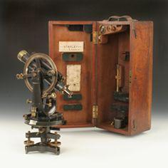 telescopic brass theodolite