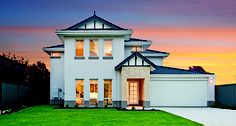 The Regal  NarrowLotHomes.com.au Facade House, House Facades, Double House, Townhouse Designs, Storey Homes, Types Of Houses, House Elevation, Car Garage, Floor Plans