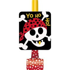 Check out Pirate Birthday Blowouts (8-Pack) - Low Priced Birthday Party Supplies and Decorations from Wholesale Party Supplies