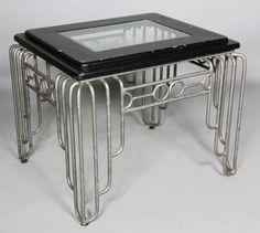 Art Deco, store display table by goldie Art Deco Period, Art Deco Era, Muebles Art Deco, Art Nouveau Furniture, Estilo Art Deco, Inspiration Art, Art Deco Home, Vintage Furniture, Metal Furniture