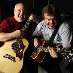 "Tenacious D — Kyle Gass (left) and Jack Black — aims to shock hard rock back to life with ""Rize of the Fenix."""