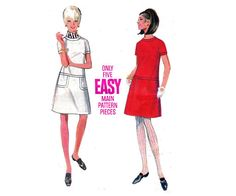 60s Retro Dress Pattern Butterick 4827 by allthepreciousthings