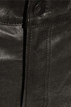 J Brand - 8001 Leather Skinny Pants - Black - 25