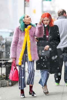 50+ photos of #NYFW street style for #OOTD inspiration on these frigid days