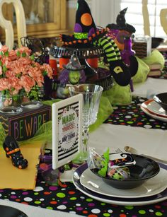 Table Setting For A Witches Tea Party