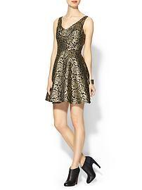 Rhyme Los Angeles Cleo Metallic Dress