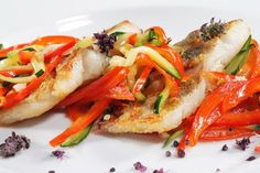 Basque Style Fish with Stewed Peppers | Trim Down Club