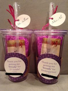 Teacher gifts with Panera gift card